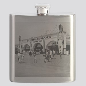 Steeplechase on Coney Island 1826580 Flask