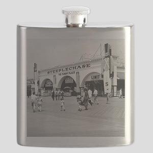 Steeplechase on Coney Island 1826580 Flask