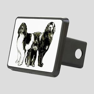 Newfoundland dog family Rectangular Hitch Cover