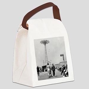 Coney Island Parachute Jump 18265 Canvas Lunch Bag