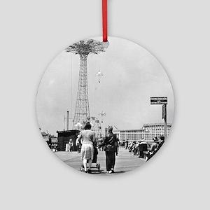 Coney Island Parachute Jump 1826579 Round Ornament