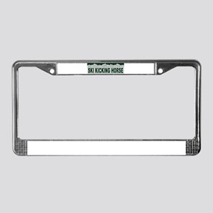 Ski Kicking Horse, British Co License Plate Frame