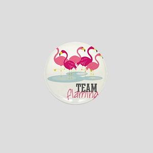 Team Flamingo Mini Button
