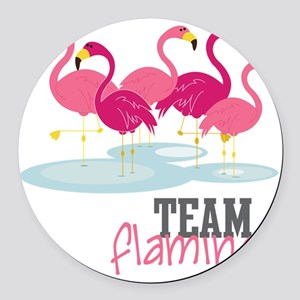 Team Flamingo Round Car Magnet