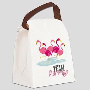 Team Flamingo Canvas Lunch Bag