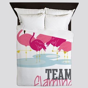 Team Flamingo Queen Duvet