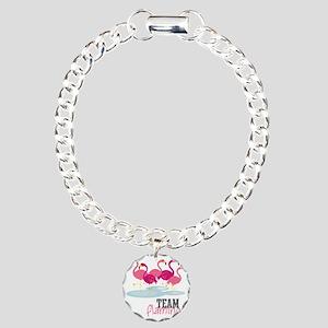 Team Flamingo Charm Bracelet, One Charm