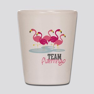 Team Flamingo Shot Glass