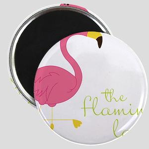 The Flamingo Lady Magnet