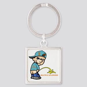 Piss on MS Square Keychain