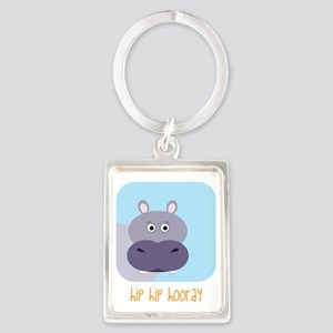 Hip Hip Hooray Portrait Keychain