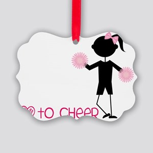 Love To Cheer Picture Ornament