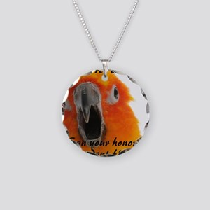 Sun Conure 2 Steve Duncan Necklace Circle Charm