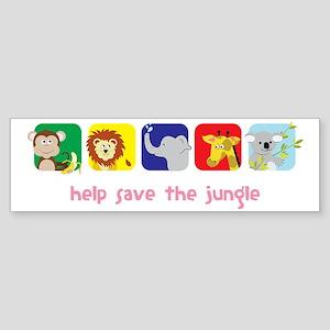 Save The Jungle Sticker (Bumper)