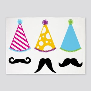 Party Mustache 5'x7'Area Rug