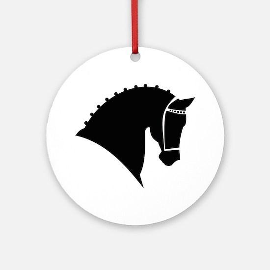 Dressage Horse Round Ornament