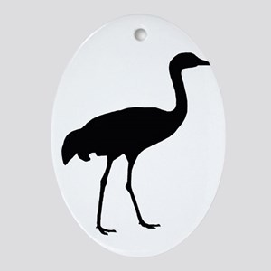 Sandhill Crane Oval Ornament