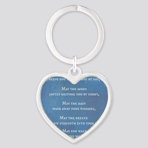 Apache Blessing Heart Keychain
