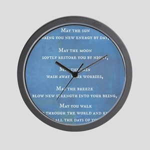 Apache Blessing Wall Clock
