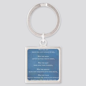 Apache Blessing Square Keychain