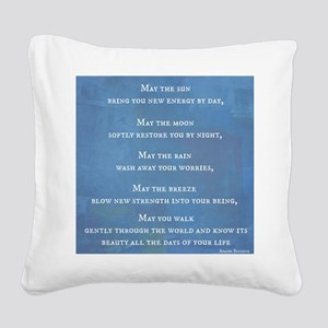 Apache Blessing Square Canvas Pillow