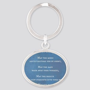 Apache Blessing Oval Keychain