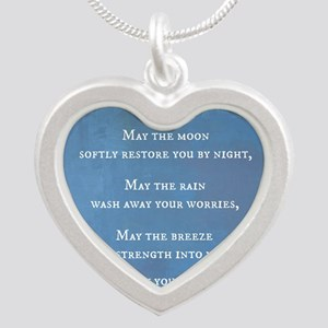 Apache Blessing Silver Heart Necklace