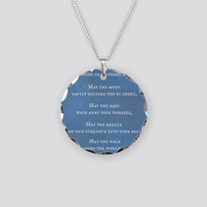 Apache Blessing Necklace Circle Charm
