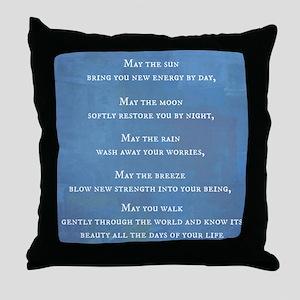 Apache Blessing Throw Pillow