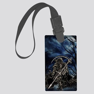 GRIM REAPER AT NIGHT Large Luggage Tag