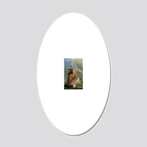 Ludolf Bakhuizen A Wijdschip 20x12 Oval Wall Decal