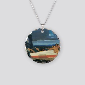 George Bellows The Big Dory Necklace Circle Charm