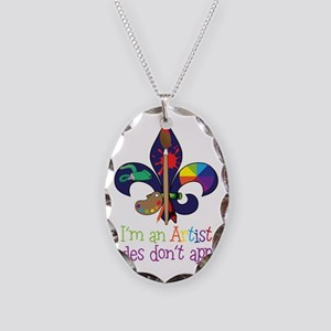 Im An Artist Necklace Oval Charm