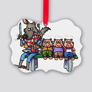 THREE LITTLE PIGS Picture Ornament