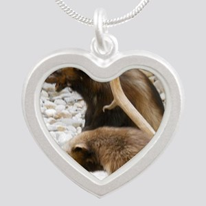 Wolverine Silver Heart Necklace