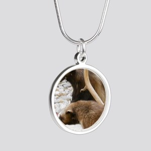 Wolverine Silver Round Necklace