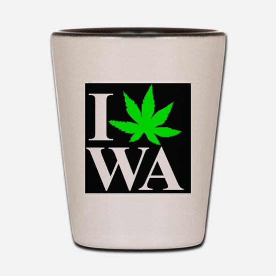 I Love WA Shot Glass