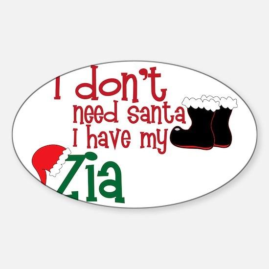 I Have My Zia Sticker (Oval)