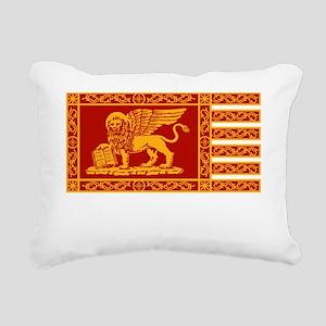 venetian flag Rectangular Canvas Pillow