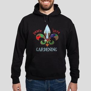 Peace Love Gardening Hoodie (dark)