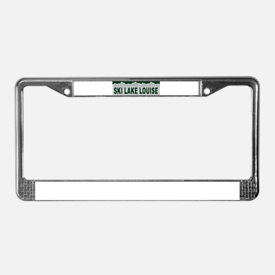 Ski Lake Louise, Alberta License Plate Frame