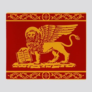 venetian flag rug Throw Blanket