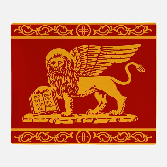 venetian flag rug Throw Blanket