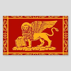 venetian flag rug Sticker (Rectangle)