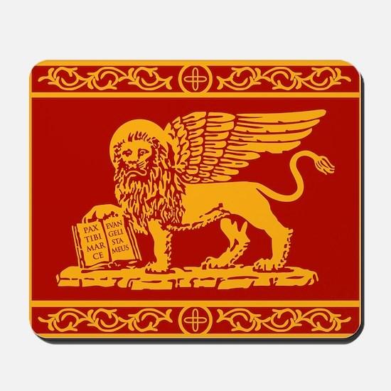 venetian flag rug Mousepad