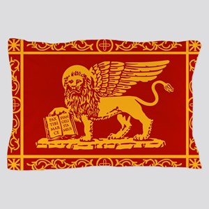 venetian flag rug Pillow Case