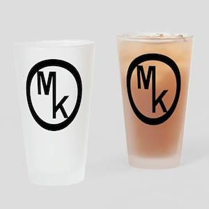 MKblack Drinking Glass