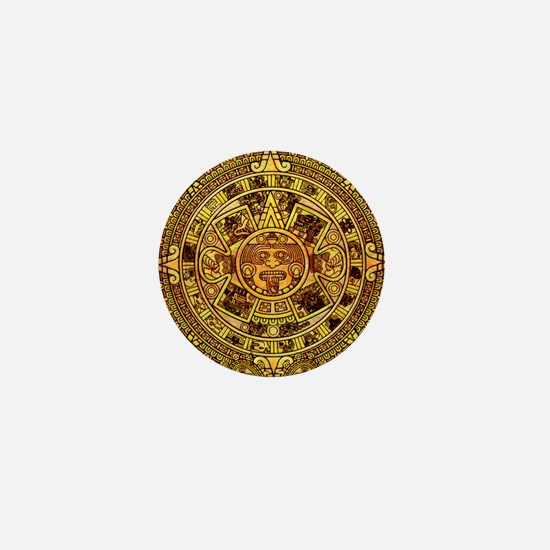 Aztec Calendar Mini Button