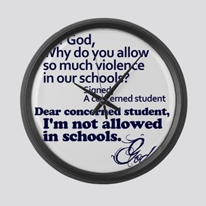 Dear God Large Wall Clock