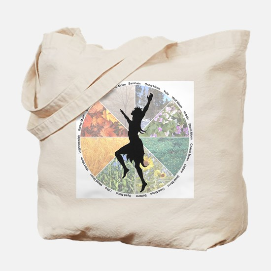 Dancing the Wheel of the Year Tote Bag